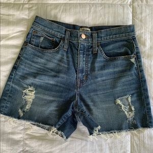 J. Crew Distressed Jean Shorts